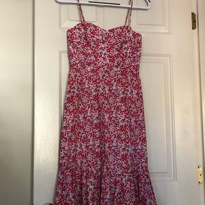 EUC J Crew Dress Size 0 in Berry Liberty Floral